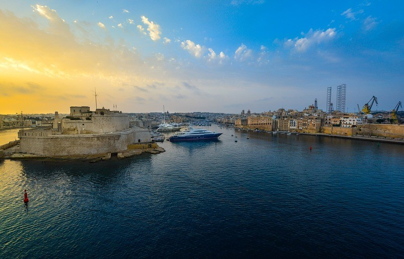 malta-sunset-harbour