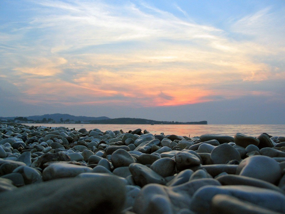 Rocks on Corfu beach