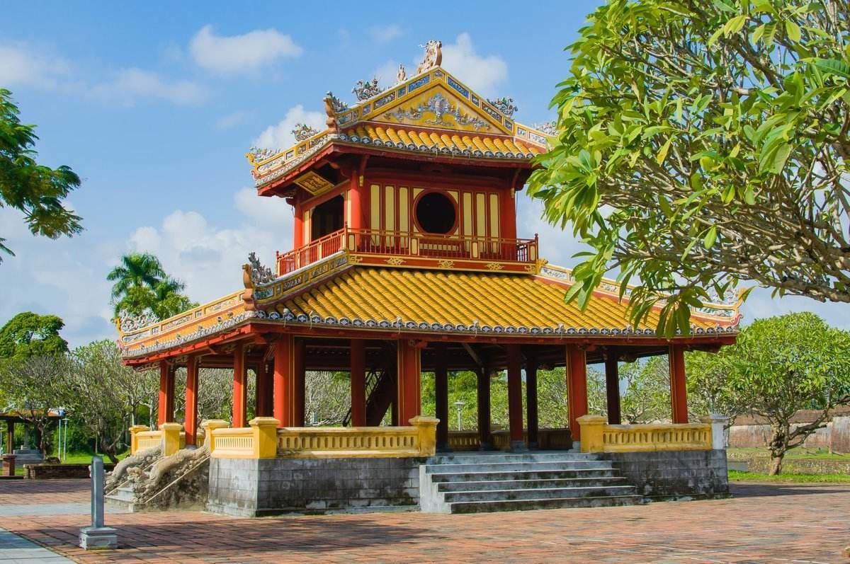 Red and yellow temple