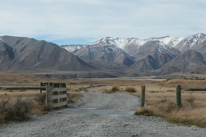 The beginning of the 4x4 trail drive into the New Zealand mountains