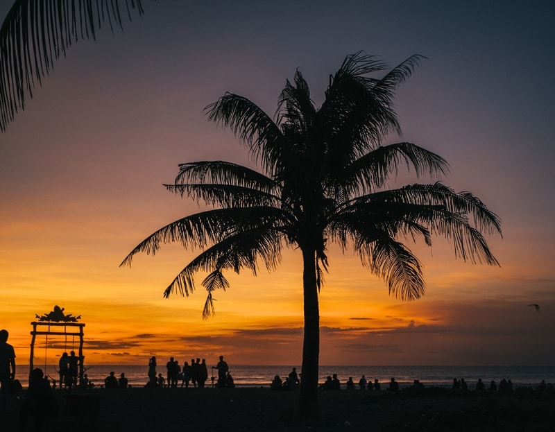 sunset from Double Six beach in Seminyak Indonesia
